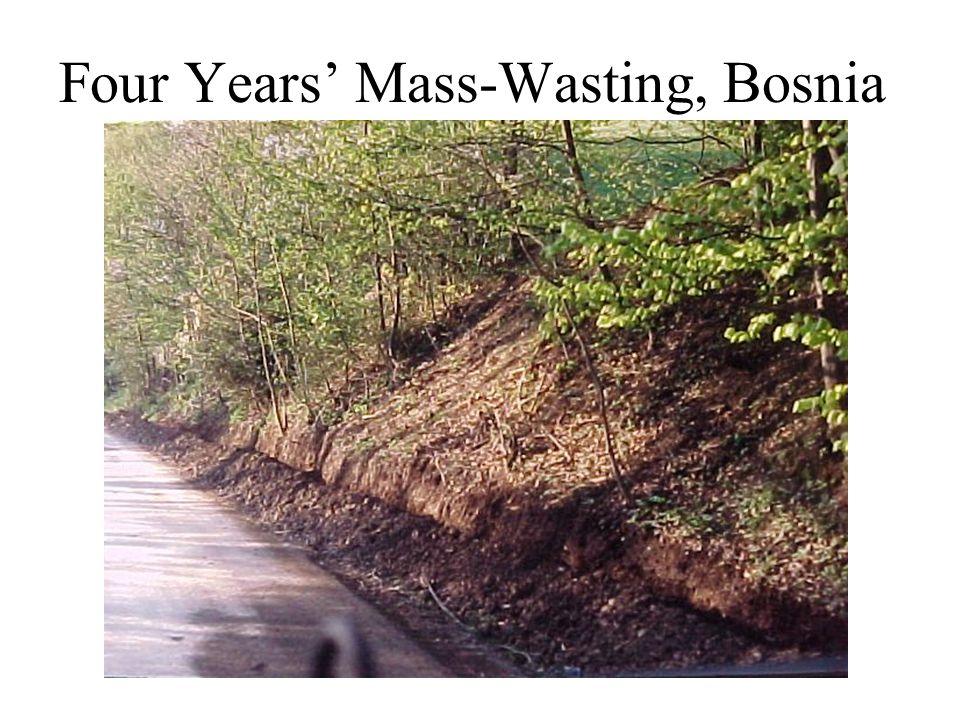 Four Years' Mass-Wasting, Bosnia