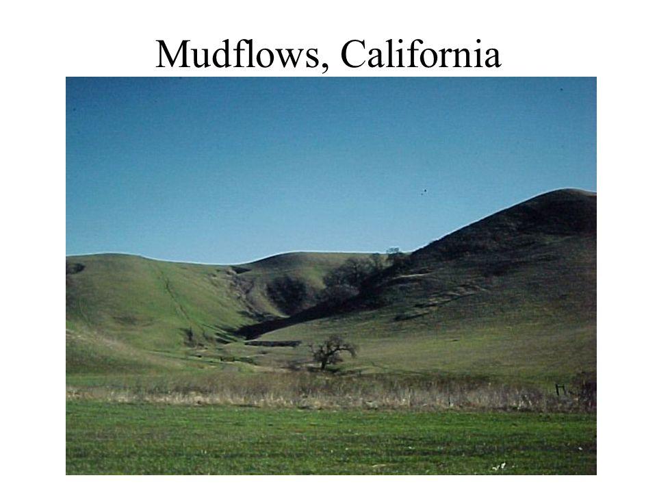 Mudflows, California