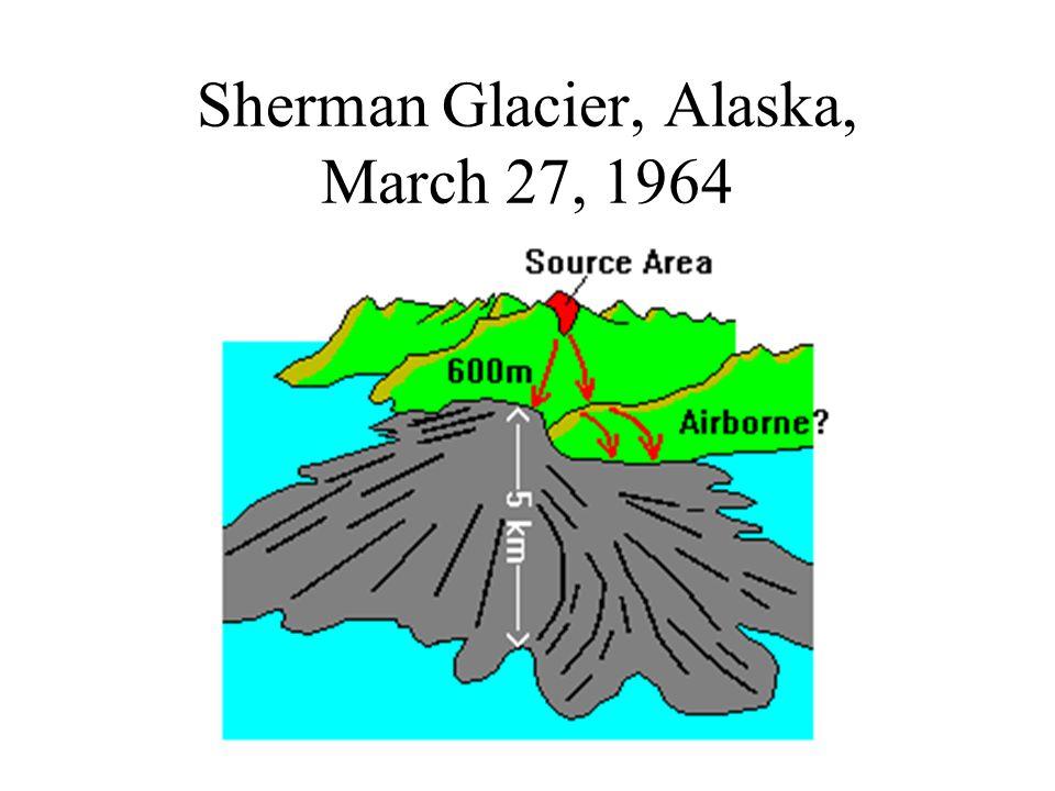 Sherman Glacier, Alaska, March 27, 1964
