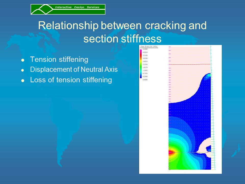 Relationship between cracking and section stiffness l Tension stiffening l Displacement of Neutral Axis l Loss of tension stiffening