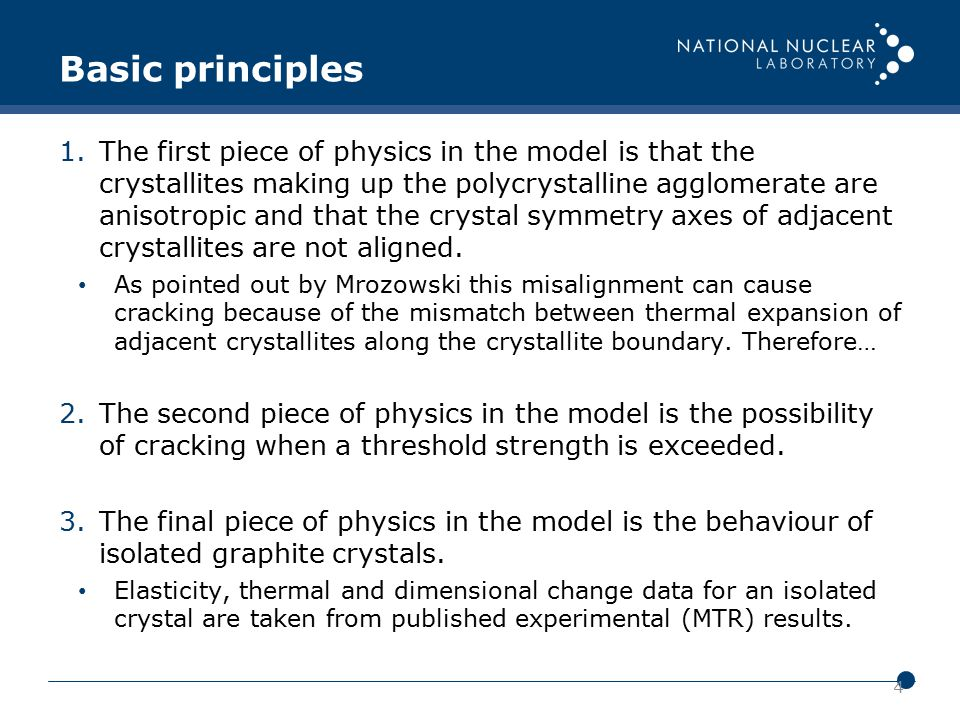 4 1.The first piece of physics in the model is that the crystallites making up the polycrystalline agglomerate are anisotropic and that the crystal sy