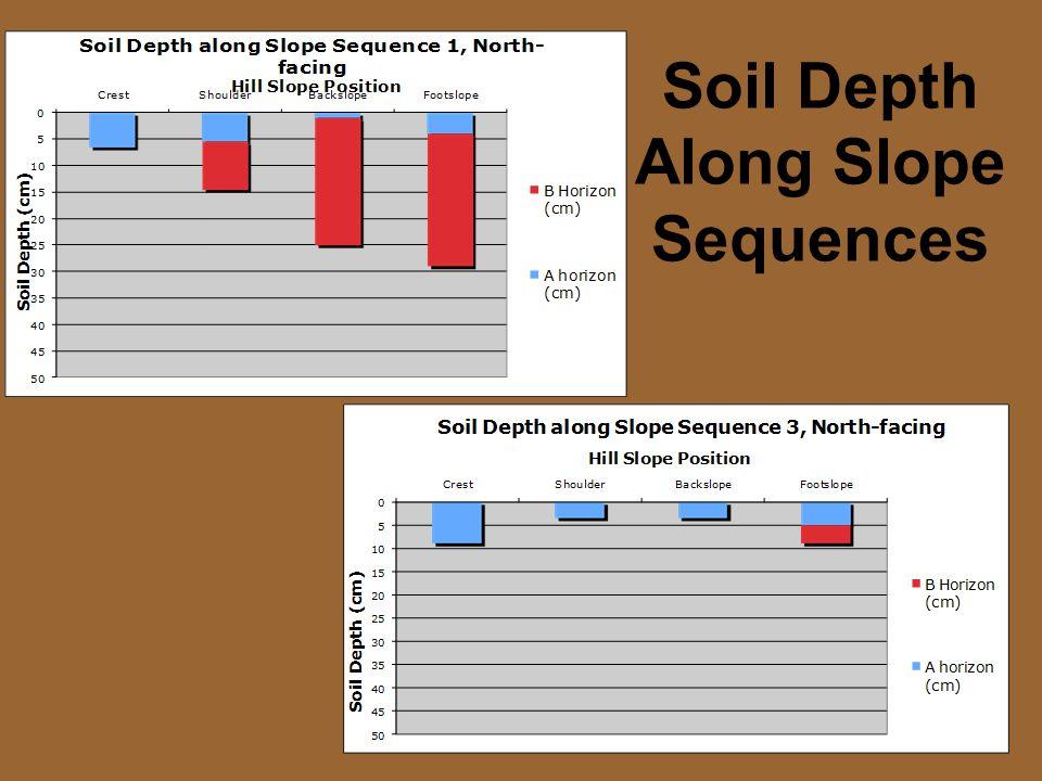 Soil Depth Along Slope Sequences