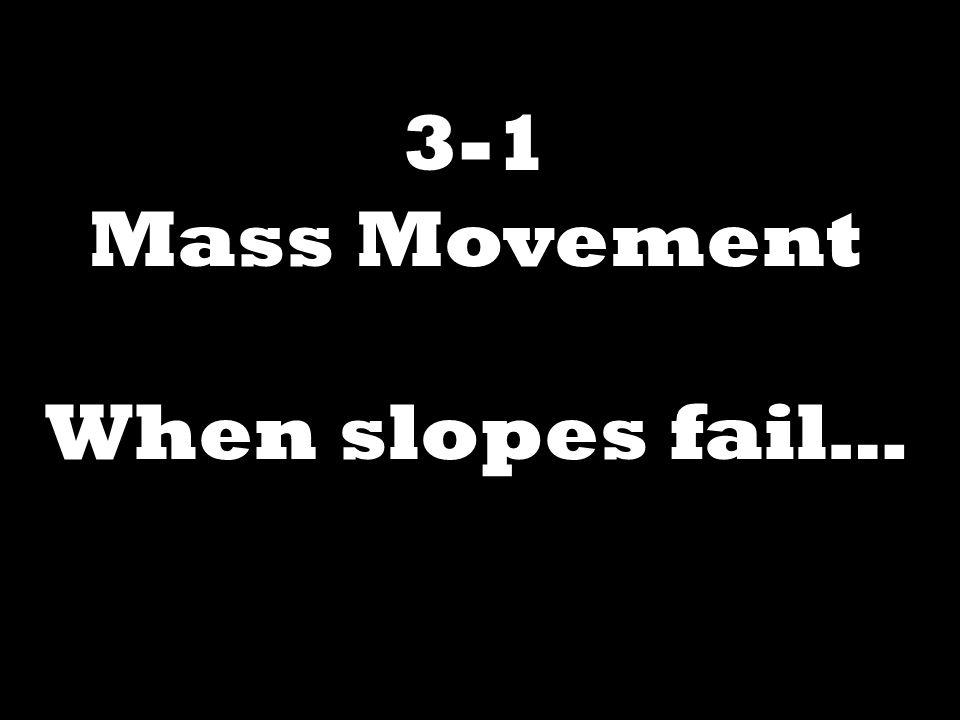3-1 Mass Movement When slopes fail…