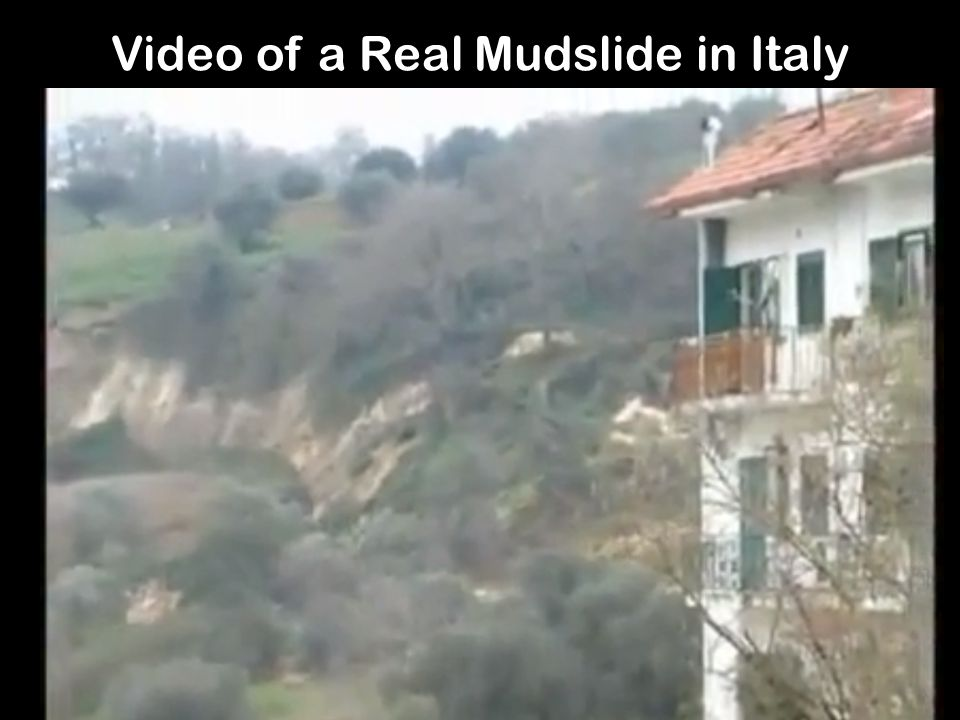 Video of a Real Mudslide in Italy