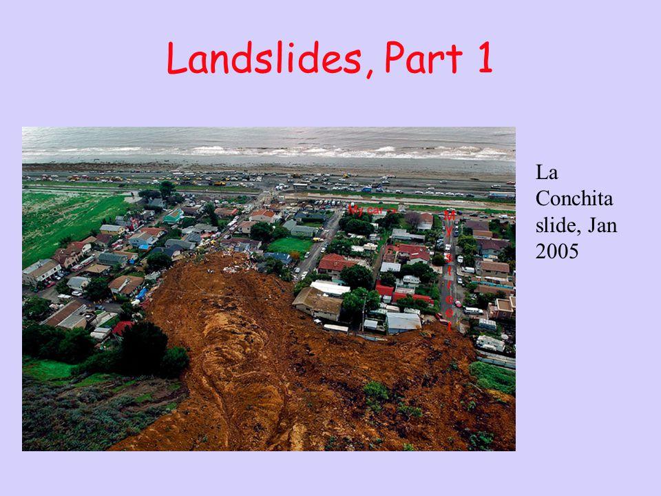 Landslides, Part 1 La Conchita slide, Jan 2005