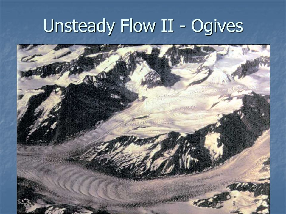 Unsteady Flow II - Ogives