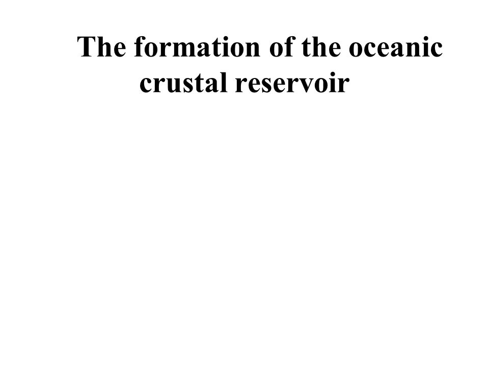 The formation of the oceanic crustal reservoir