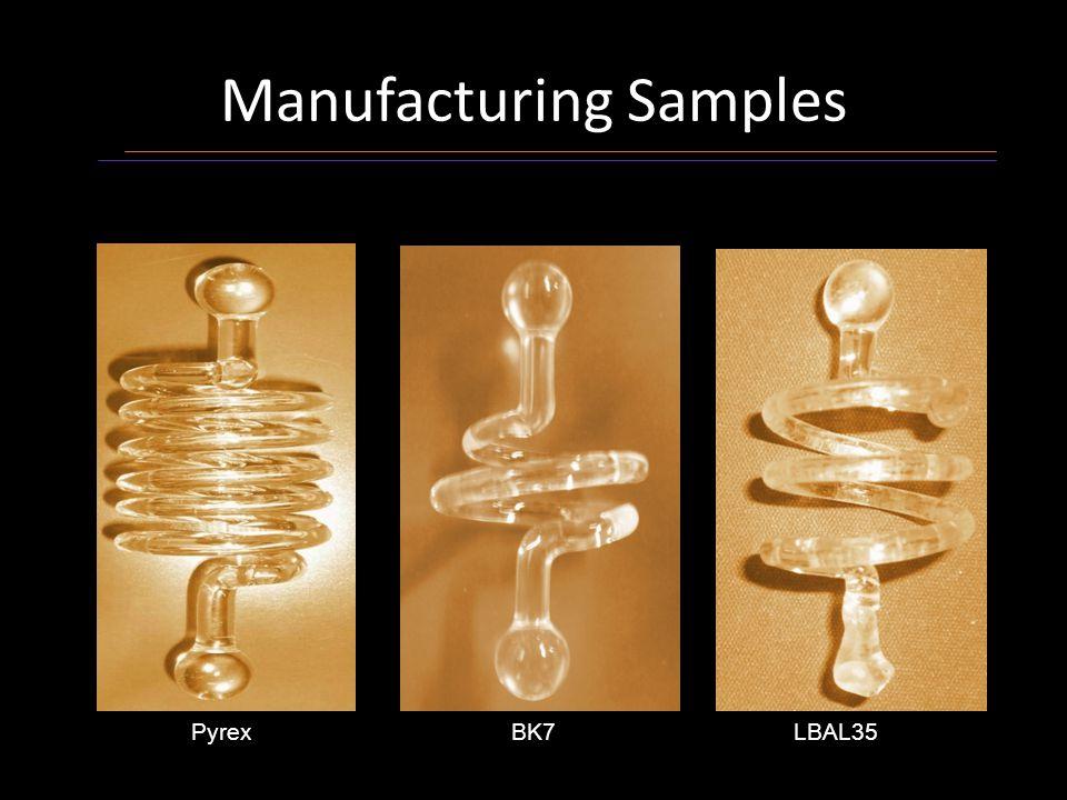 Manufacturing Samples PyrexBK7LBAL35