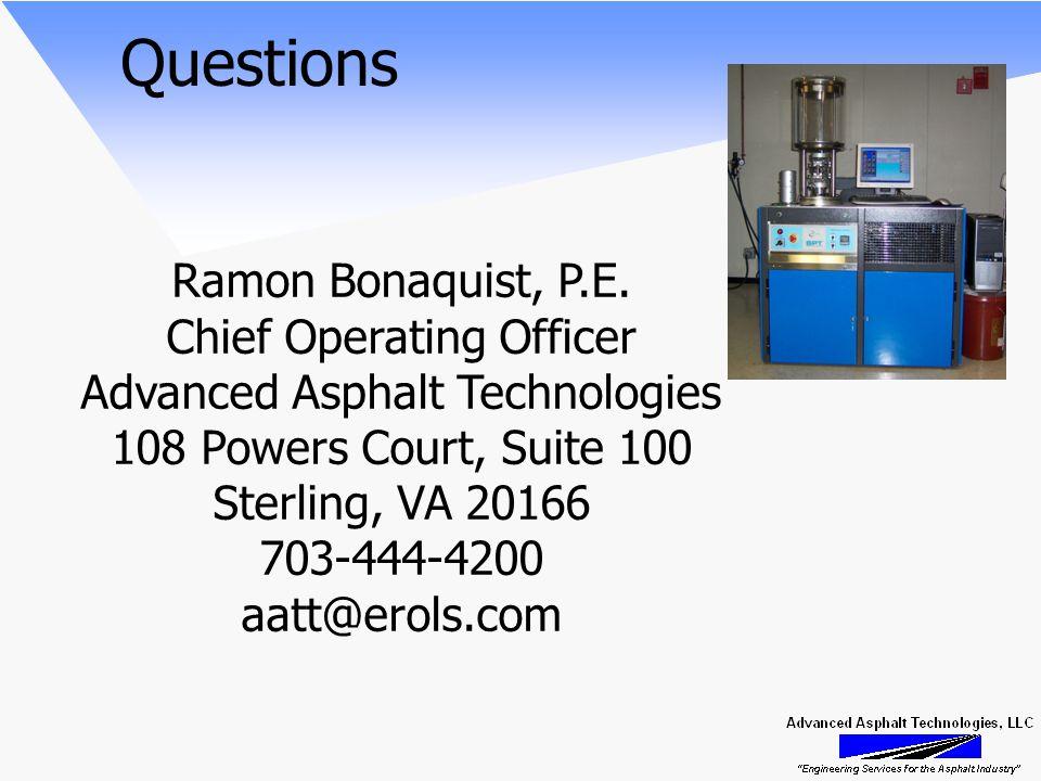 Questions Ramon Bonaquist, P.E.