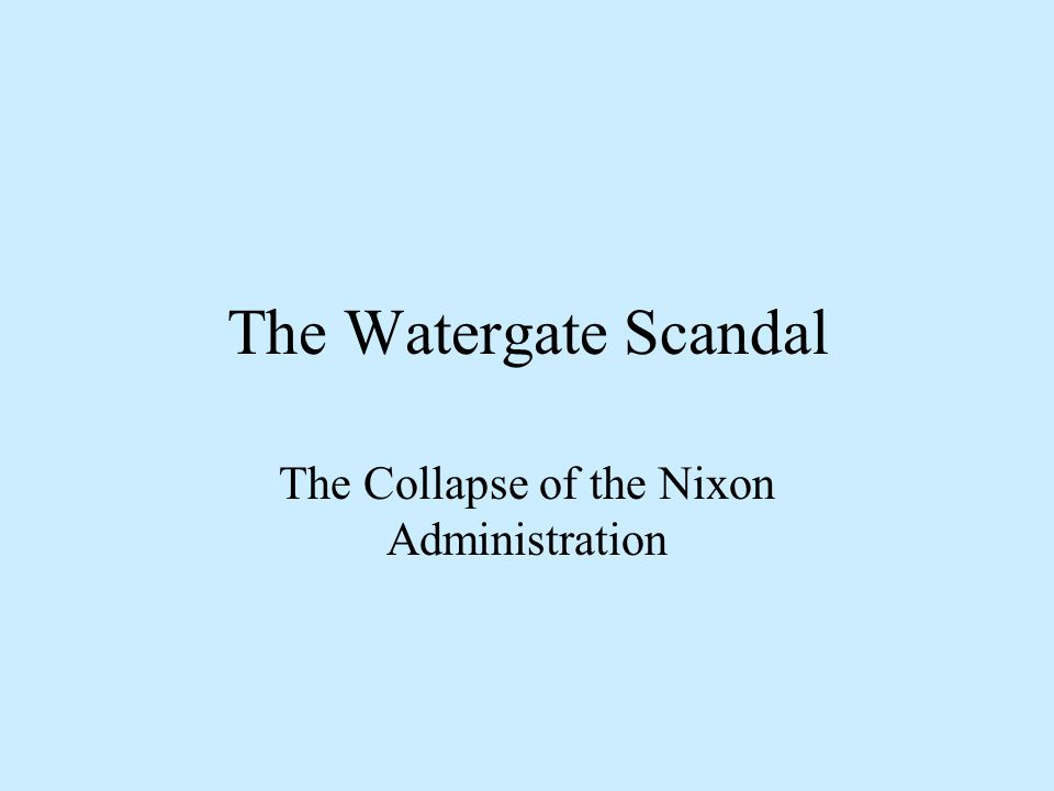 Watergate Hearings: Who are these people.