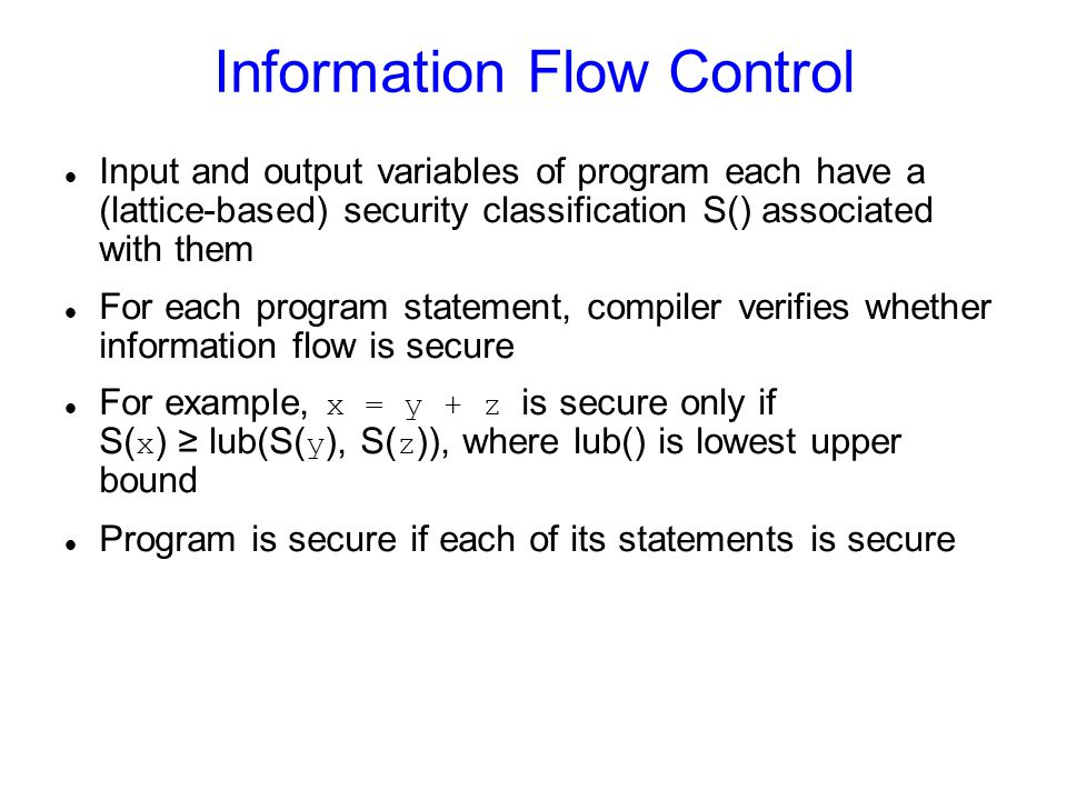 Results on Flume Allows adoption of Unix software.