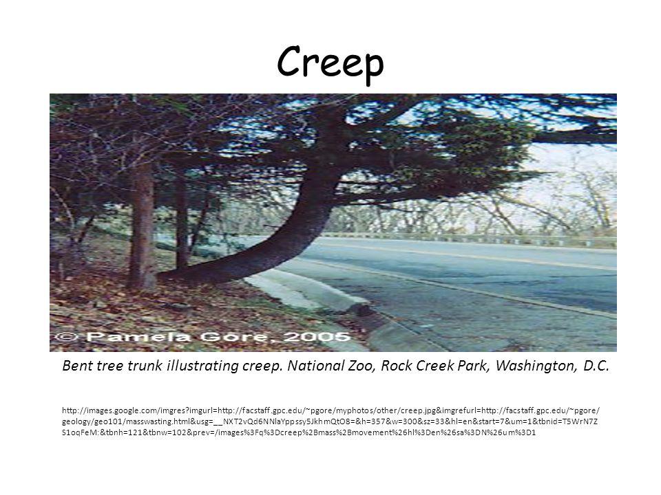Creep http://images.google.com/imgres?imgurl=http://facstaff.gpc.edu/~pgore/myphotos/other/creep.jpg&imgrefurl=http://facstaff.gpc.edu/~pgore/ geology