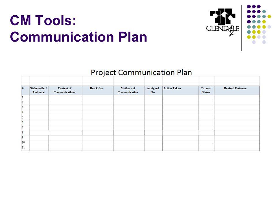 CM Tools: Communication Plan