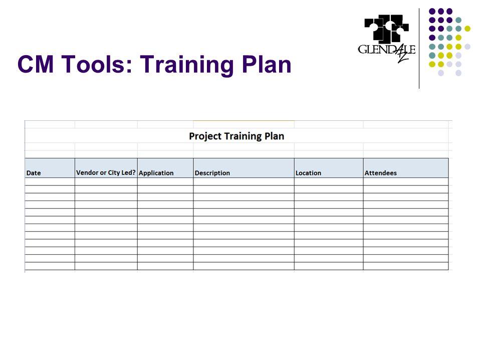 CM Tools: Training Plan