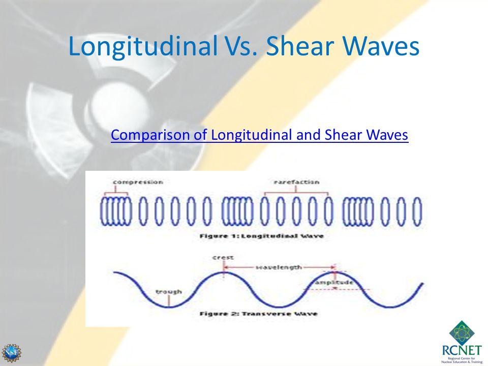 Longitudinal Vs. Shear Waves Comparison of Longitudinal and Shear Waves