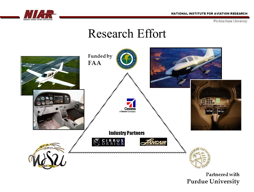 NATIONAL INSTITUTE FOR AVIATION RESEARCH Wichita State University Motivation Number of certification programs involve a large range of adhesive bonding applications Migration from secondary to primary structure Limited guidance material existed Limited experimental analytical models that can be effectively used in design