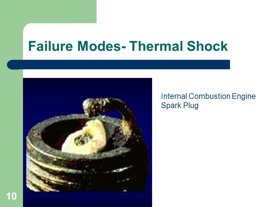 10 Failure Modes- Thermal Shock Internal Combustion Engine Spark Plug