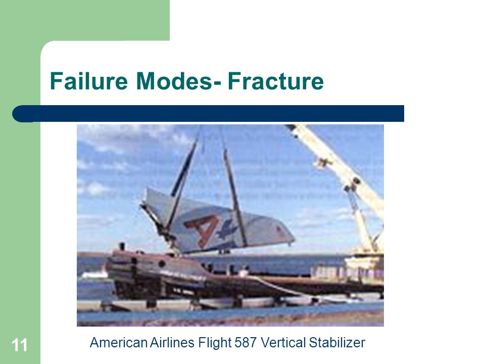 11 Failure Modes- Fracture American Airlines Flight 587 Vertical Stabilizer