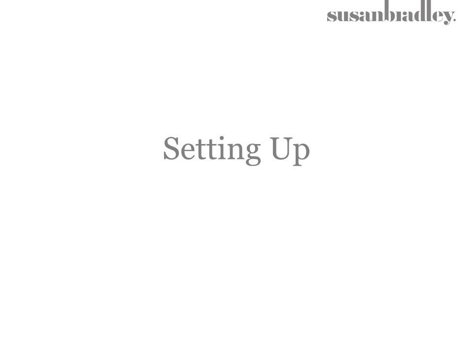 Setting Up