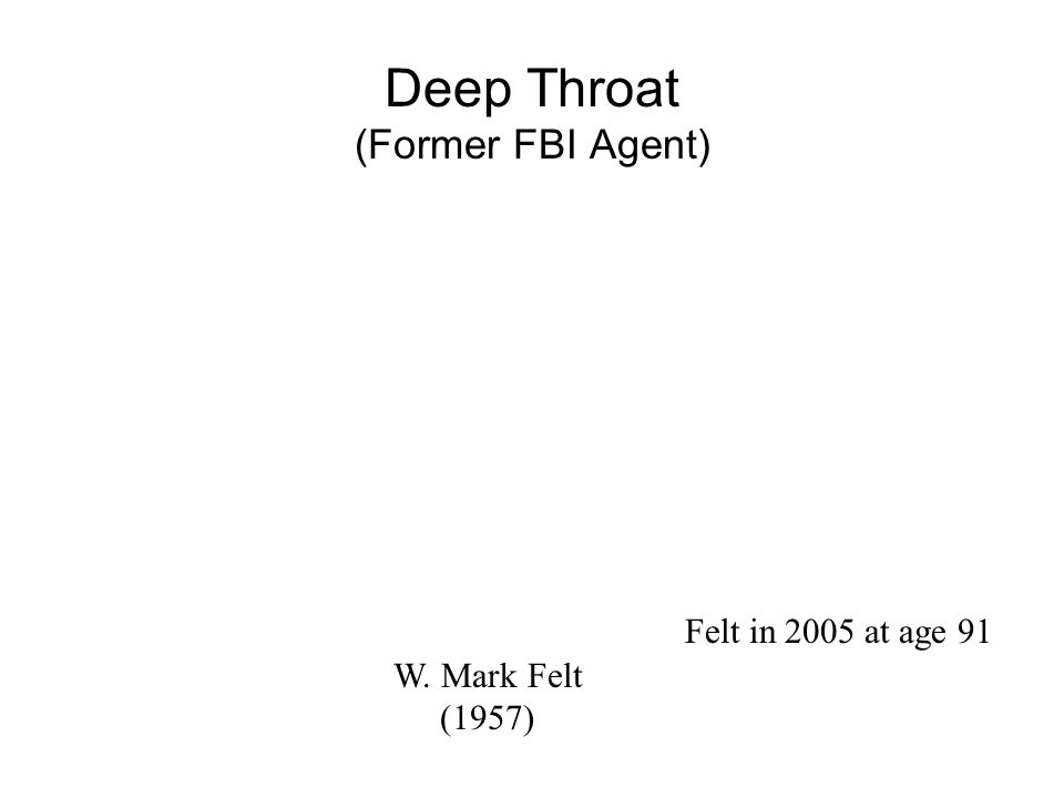 "Watergate: Cover-up Writers for the Washington Post ""Deep Throat"" was an important source Bob Woodward & Carl Bernstein"