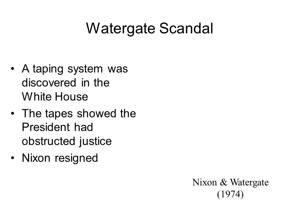 Watergate Sworn in as new VP. Gerald Ford (1913-2006)