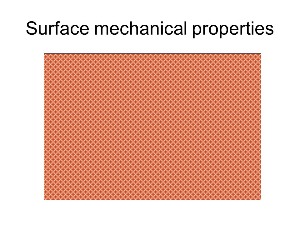 Surface mechanical properties
