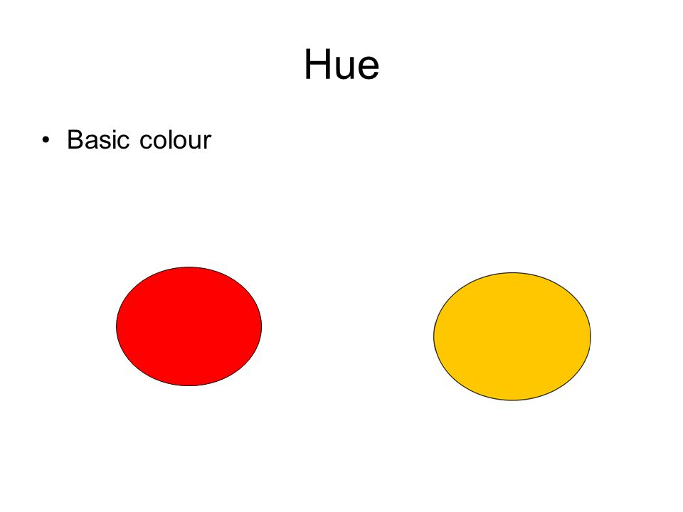 Hue Basic colour