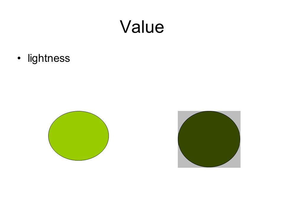 Value lightness