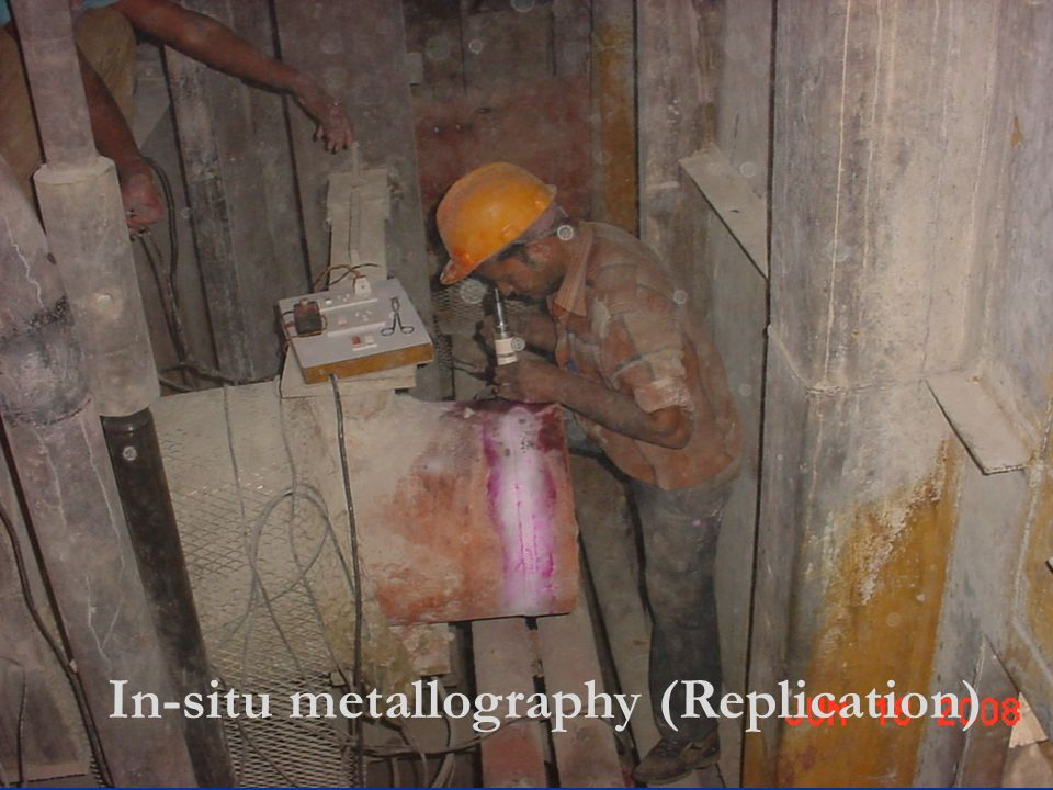 In-situ metallography (Replication)