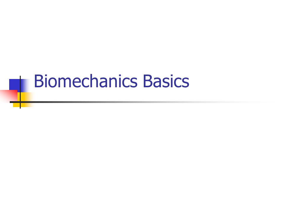 Biomechanics Basics