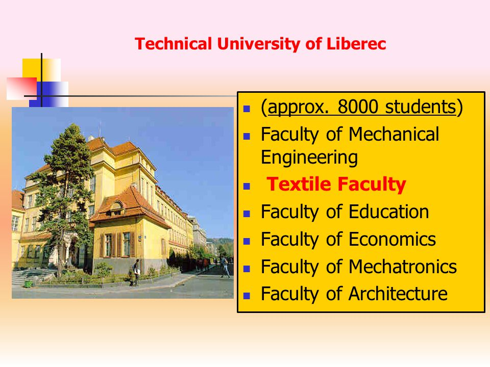 Staff 120 teachers 1.MSc Studies (technology, material engineering, clothing) 800 2.BSc Studies (chemistry, marketing, design, mechanics, clothing) 600 3.Part time studies (textile technology) 60 4.