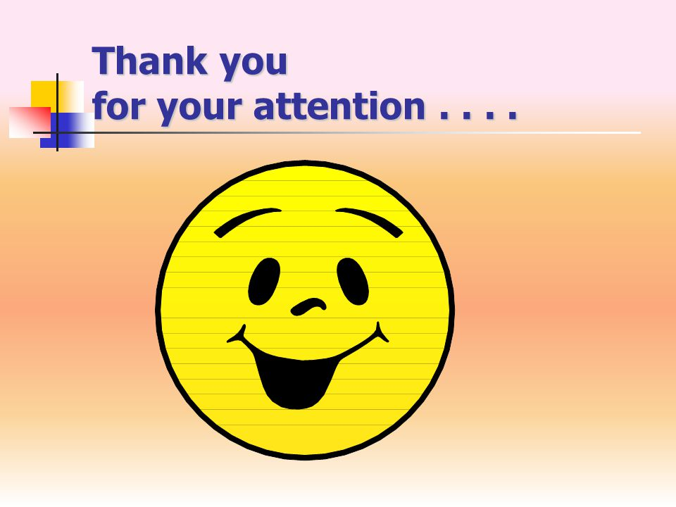 Thank you for your attention....