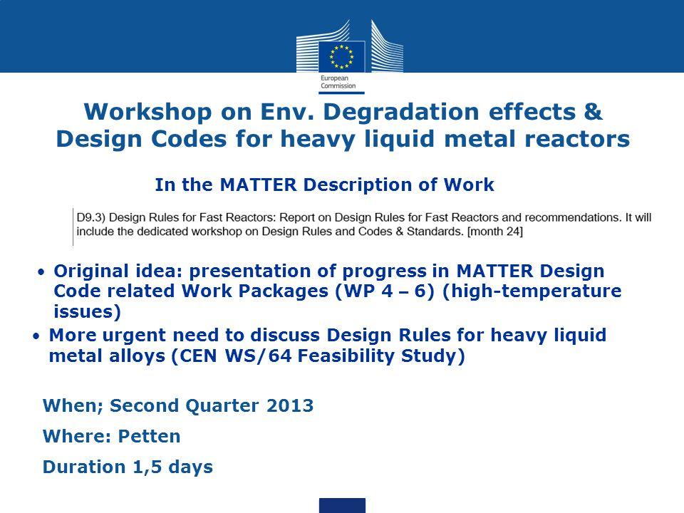 Workshop on Env.