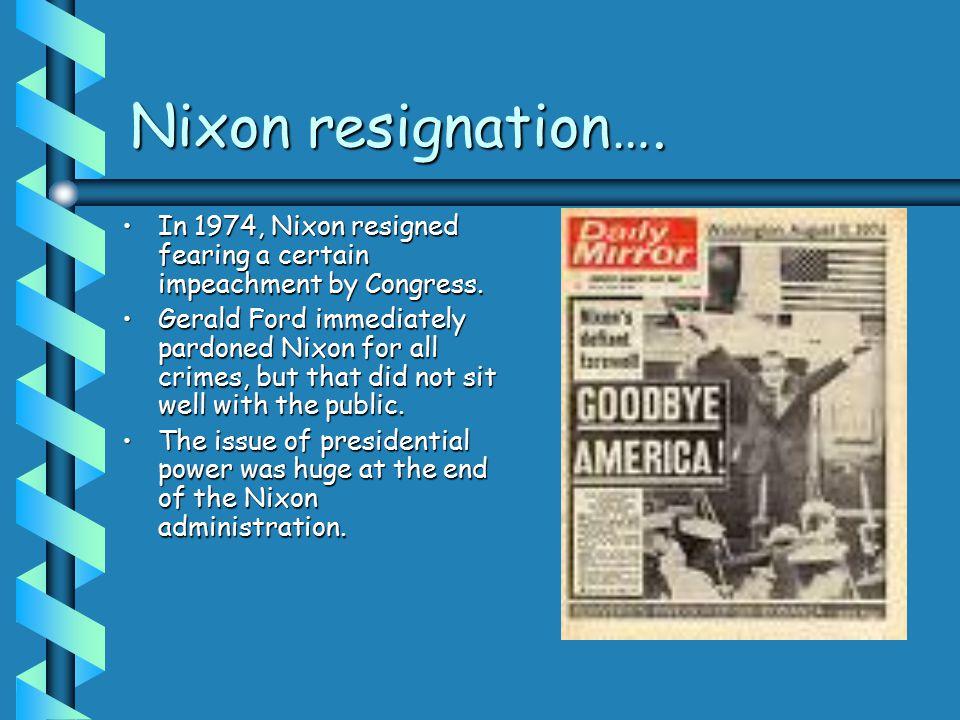 Nixon resignation….