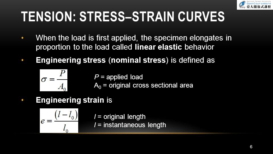Solution The true area at the onset of necking is obtained from Hence, We have 17 TENSION: STRAIN AT NECKING IN A TENSION TEST