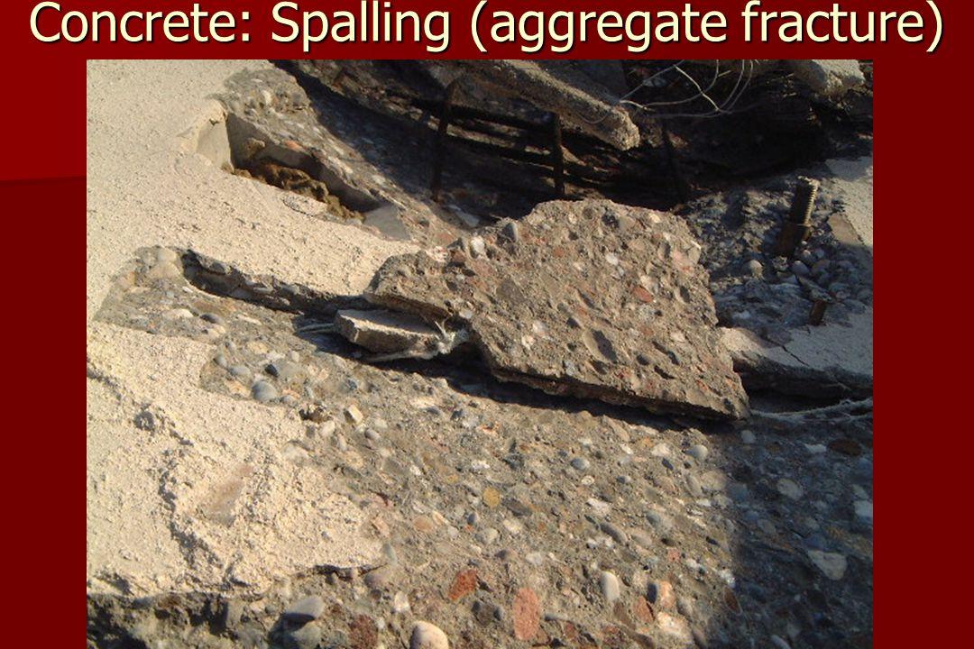 Concrete: Spalling (aggregate fracture)
