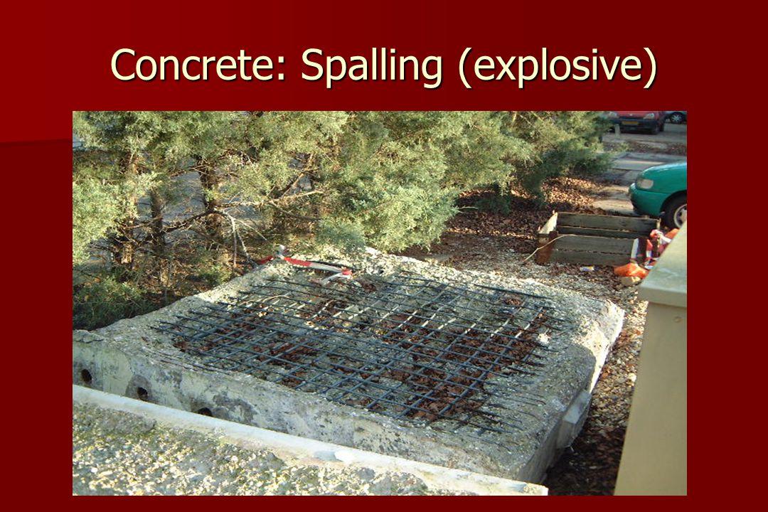 Concrete: Spalling (explosive)