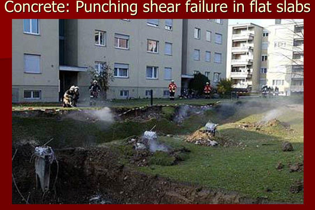 Concrete: Punching shear failure in flat slabs