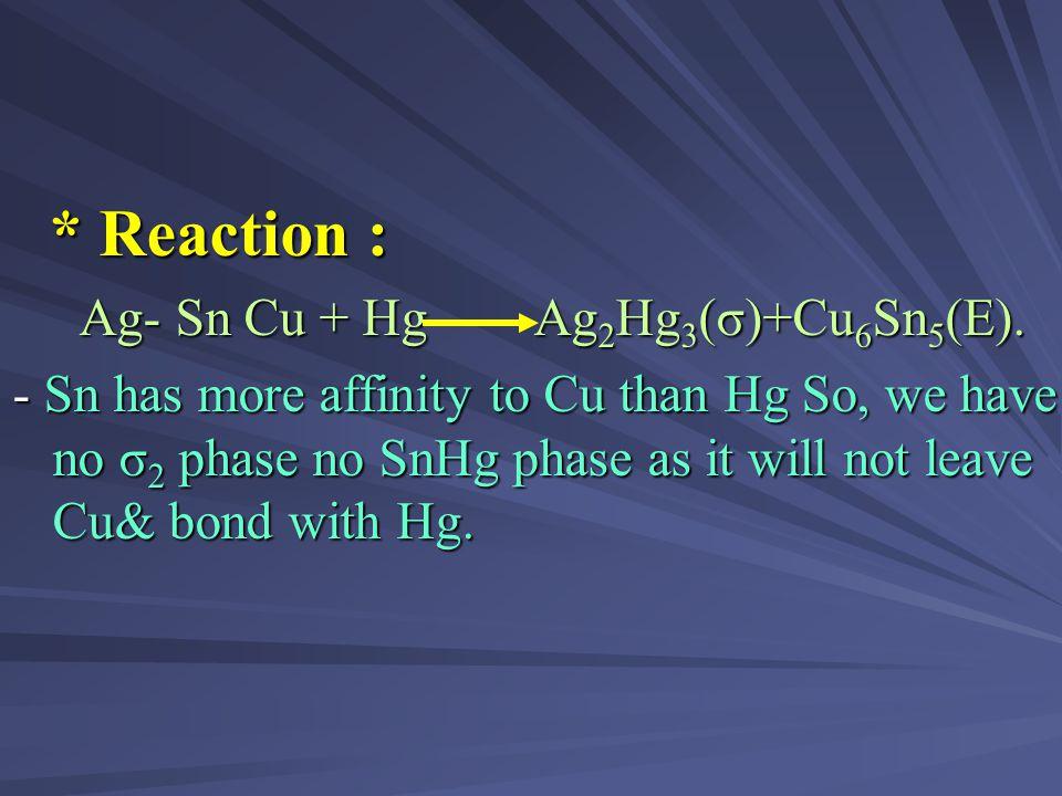 (2) Single COMPOSITION high copper amalgam : * COMPOSITION : * COMPOSITION : 13-30% copper. 13-30% copper. - Ternary Ag-Sn-Cu. - Ternary Ag-Sn-Cu. - I