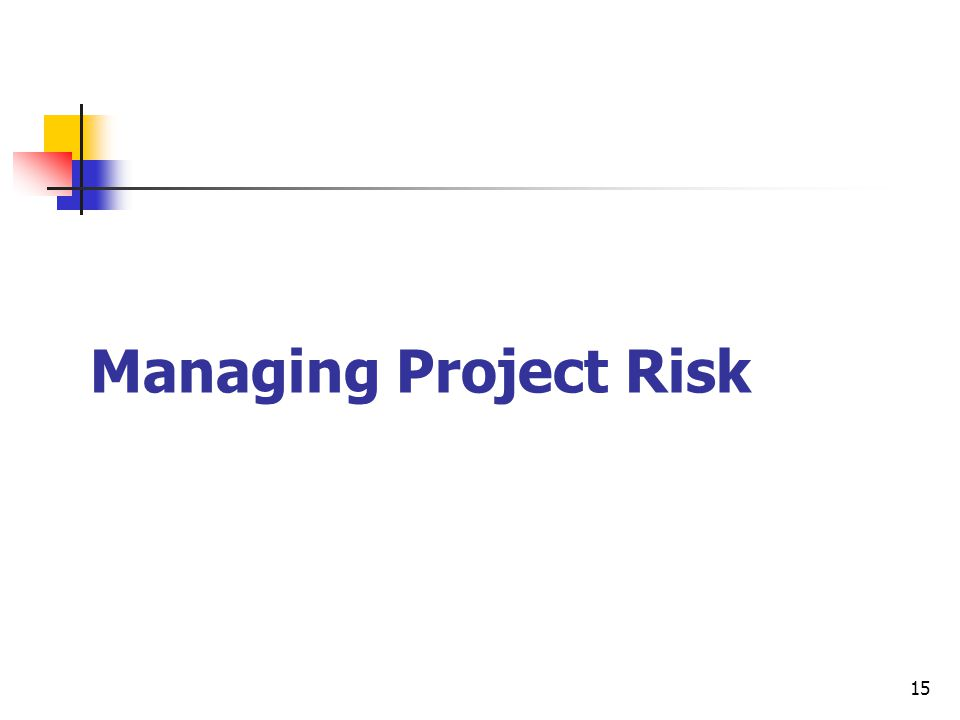 15 Managing Project Risk