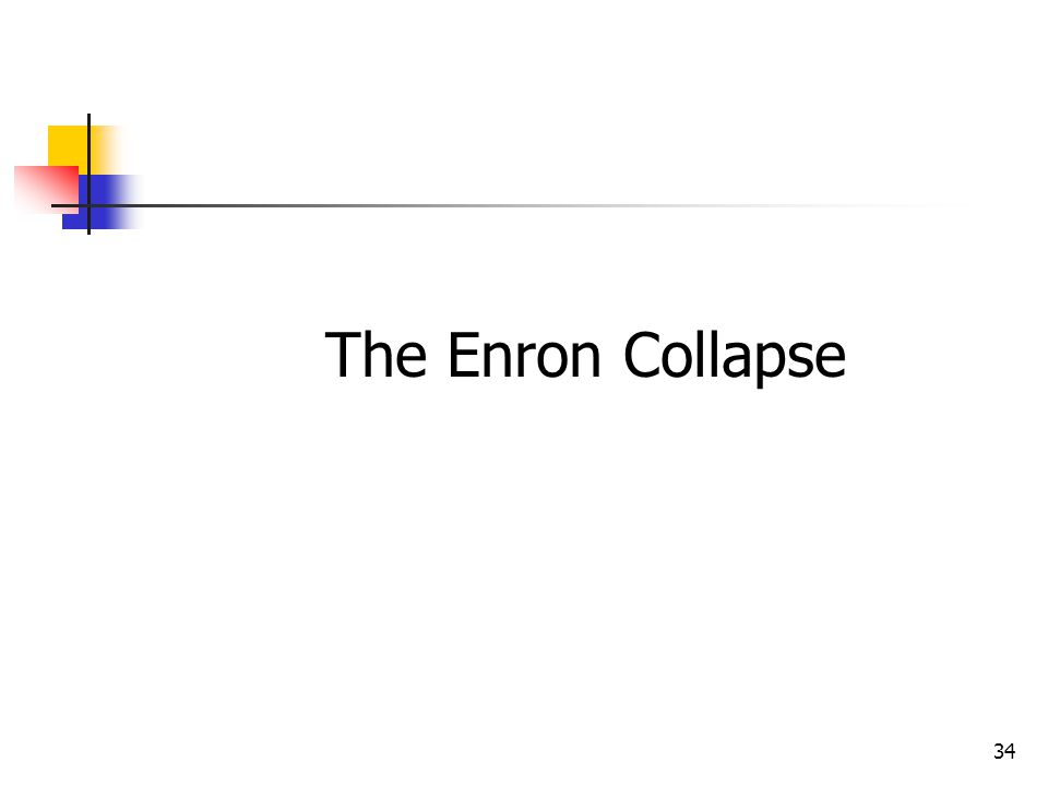 34 The Enron Collapse