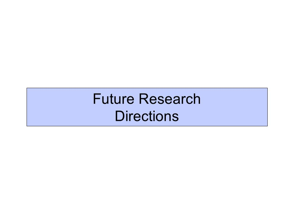 Future Research Directions
