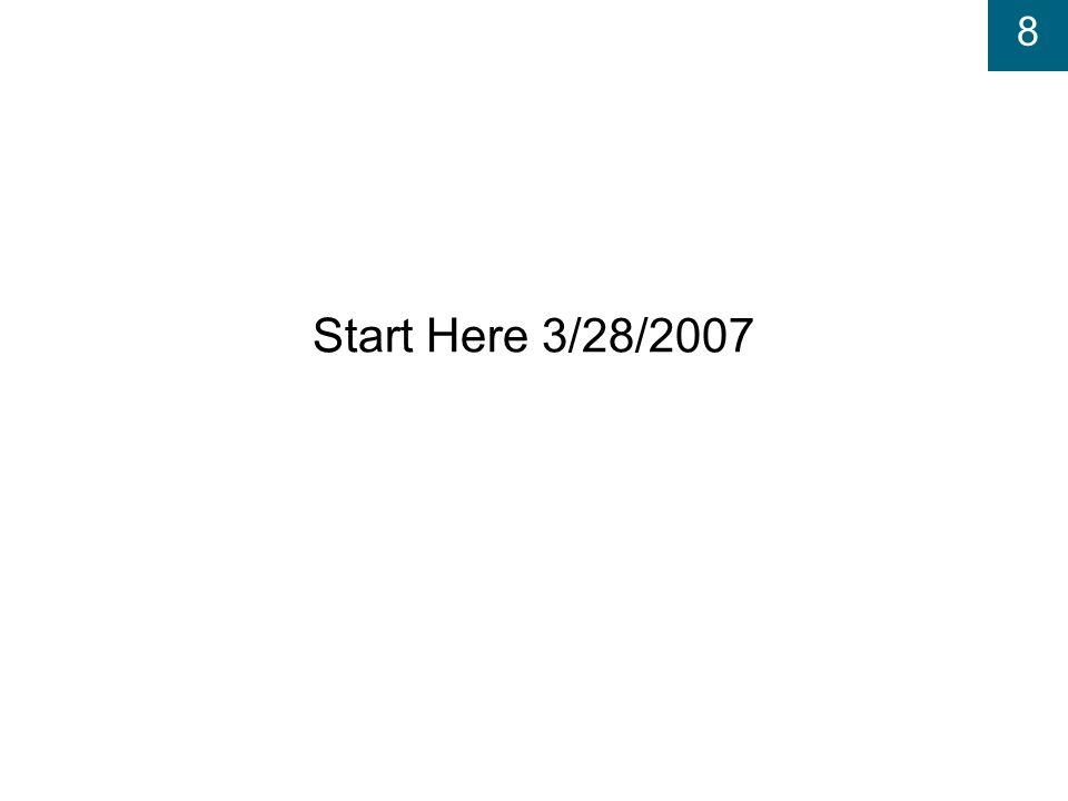 8 Start Here 3/28/2007