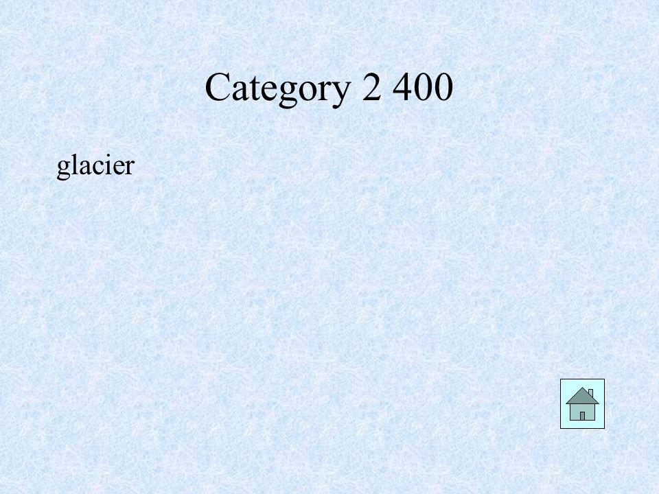 Category 2 400 glacier