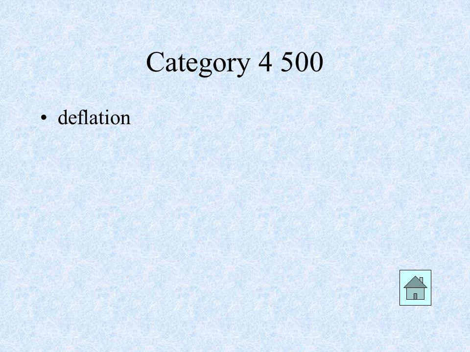 deflation Category 4 500