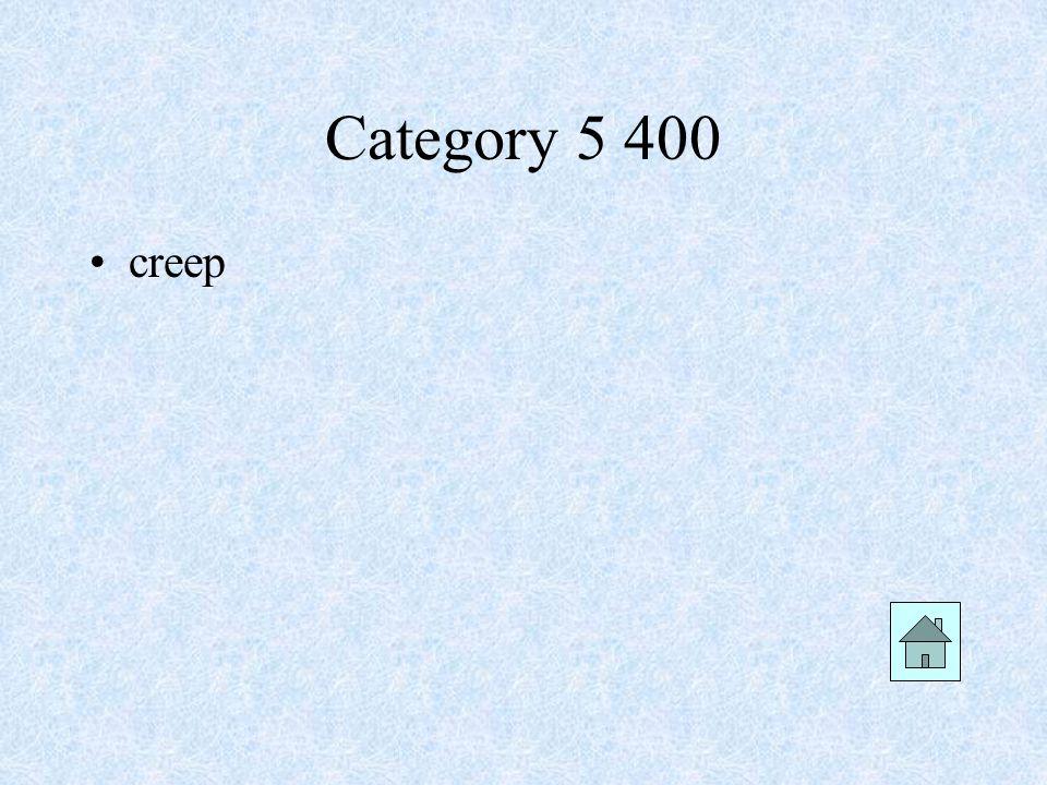 Category 5 400 creep