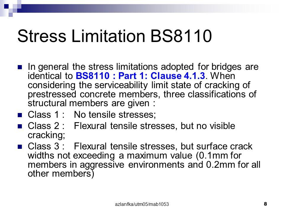 azlanfka/utm05/mab1053 79 Example on Post-Tensioned Concrete Slab Bridge (Ref: M.