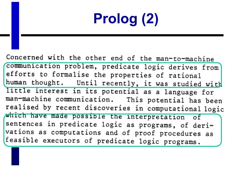 Prolog (2)