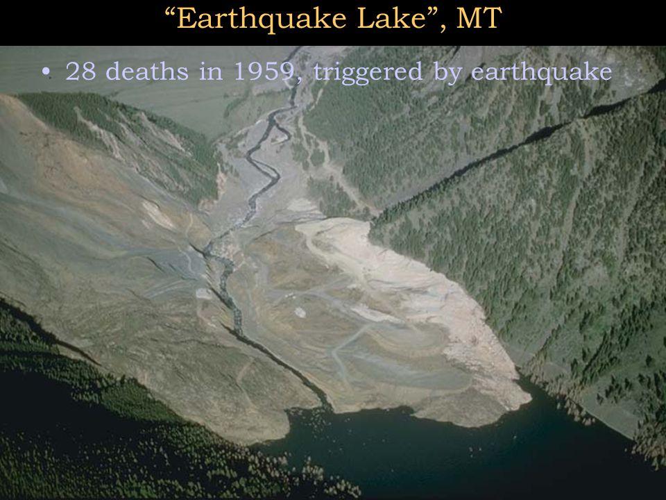"""Earthquake Lake"", MT 28 deaths in 1959, triggered by earthquake"
