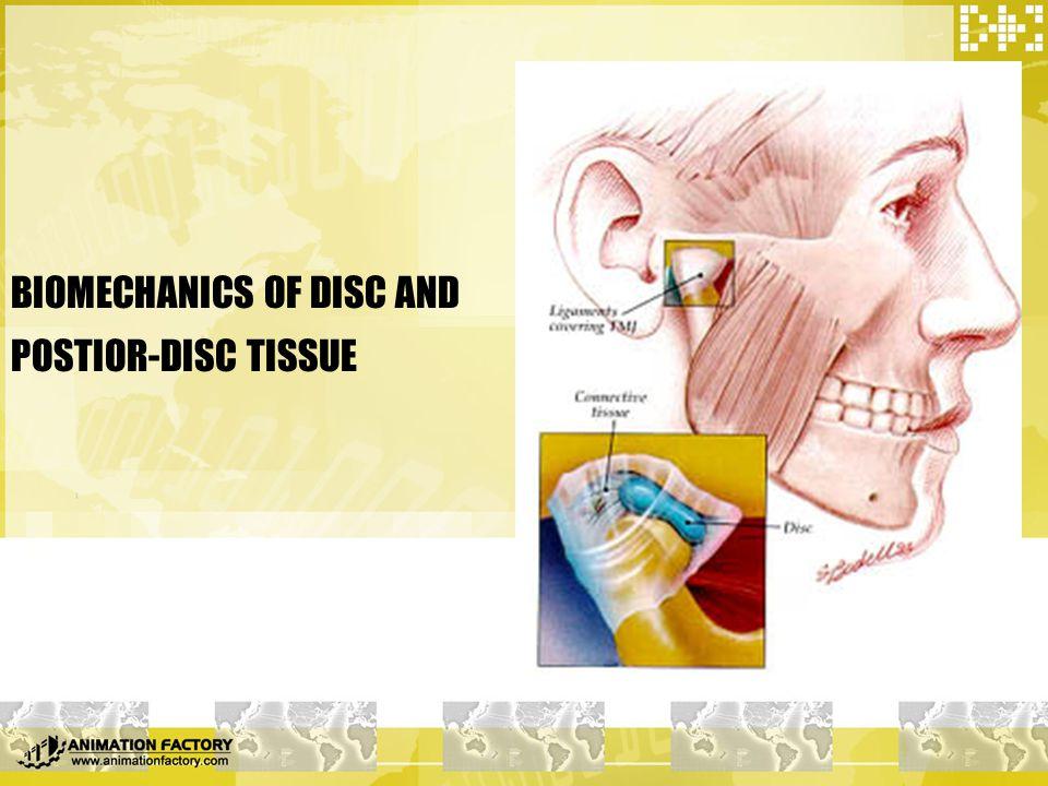 BIOMECHANICS OF DISC AND POSTIOR-DISC TISSUE
